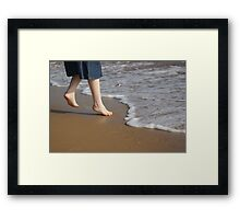 Too Cold to Paddle Framed Print