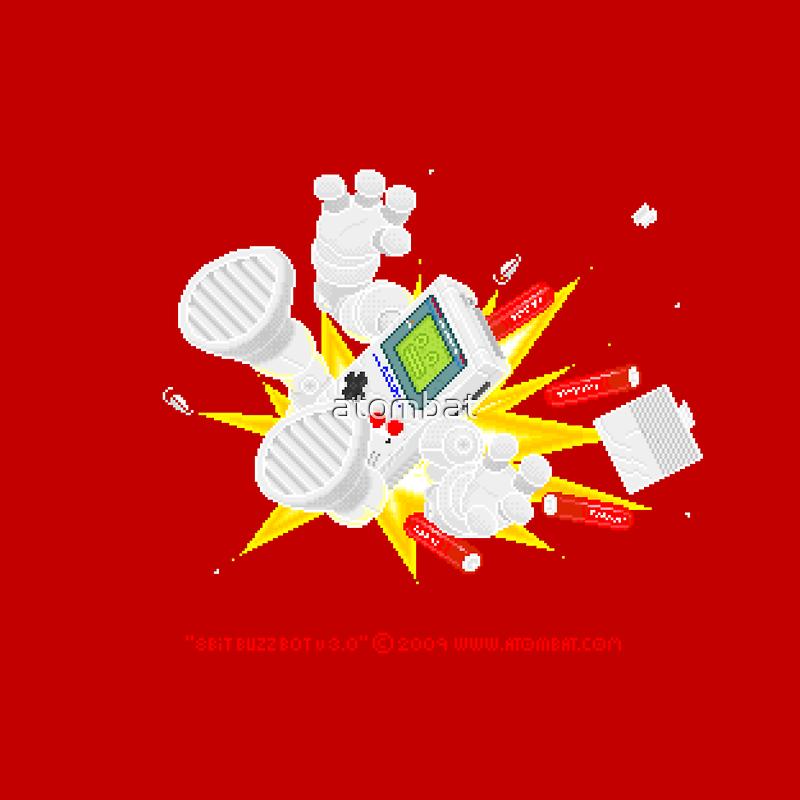 """8 Bit Buzz Bot v3.0.4 """"GameBoid""""  by atombat"""