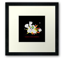 "8 Bit Buzz Bot v3.0.5 ""GameBoid""  Framed Print"