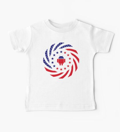 Android Murican Patriot Flag Series Baby Tee