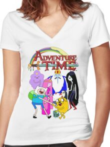 Adventure Time! Women's Fitted V-Neck T-Shirt