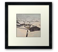 Winter Town Framed Print