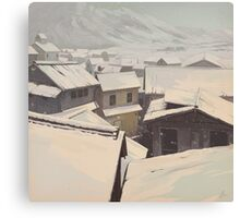 Winter Town Canvas Print
