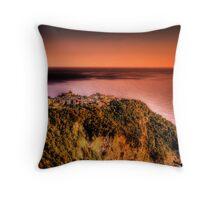 Corniglia at dusk Throw Pillow