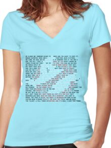 Ghostbusters Quote Logo Women's Fitted V-Neck T-Shirt