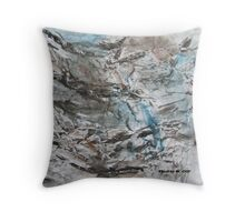 Waterfall on Rocks Throw Pillow