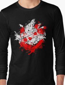 Ghostbusters Logo Paint Splatter Long Sleeve T-Shirt