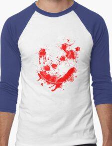 Ghostbusters Logo Paint Splatter Men's Baseball ¾ T-Shirt