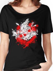Ghostbusters Logo Paint Splatter Women's Relaxed Fit T-Shirt