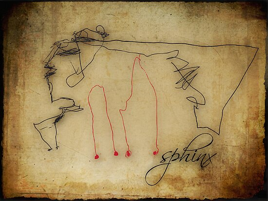 """Sphinx"" - my 3 years old daughter's drawing... by buyart"