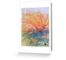 Sunset  Over the Mountains Greeting Card