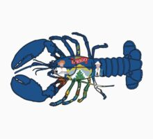 Maine Lobster w/ State Flag by canossagraphics