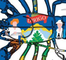 Maine Lobster w/ State Flag Sticker