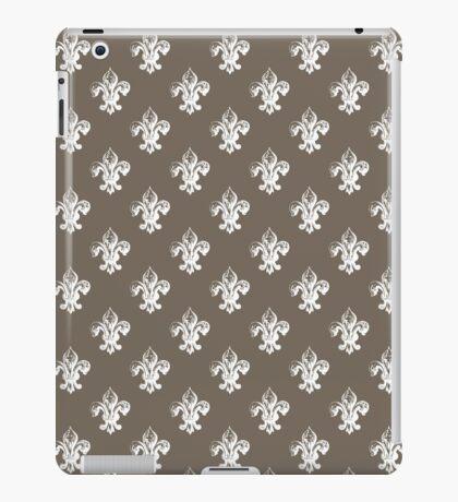 Fleur de lis in driftwood. iPad Case/Skin