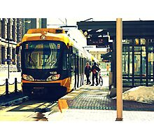 Downtown Minneapolis Train Photographic Print