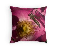 The Bug and the Rose Throw Pillow