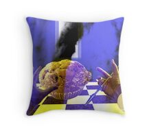 SPEAR ME SOME FOOD Throw Pillow