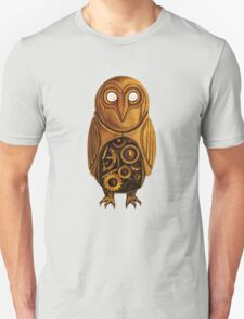 wooden owl clock Unisex T-Shirt