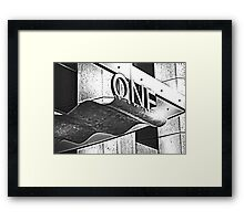 One.. is the loneliest number... Framed Print