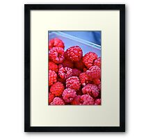 Ruby Raspberries Framed Print