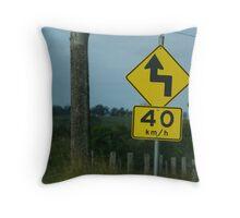 Australian roads Throw Pillow