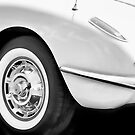 Vette In Black &amp; White by Robert Beck