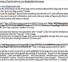 Steps To Posting a Flag Counter on your Redbubble Homepage by LeighAth