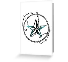Barbed Wire Nautical Star Greeting Card