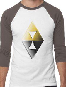 A Link Between Worlds Triforce Logo Men's Baseball ¾ T-Shirt