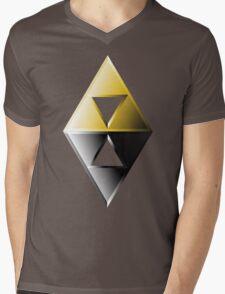 A Link Between Worlds Triforce Logo Mens V-Neck T-Shirt