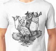 Goatowls (b&w) Unisex T-Shirt