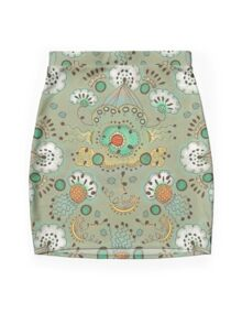 Flower in the Sky Pattern Mini Skirt