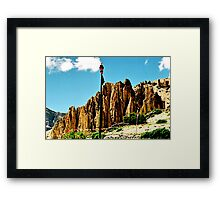 mountain sky. northern india Framed Print