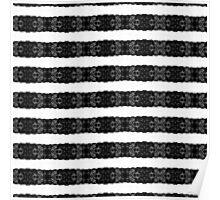 Glamorous Elegant Black Lace Stripes Poster