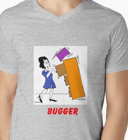 TRIX FILLING Mens V-Neck T-Shirt