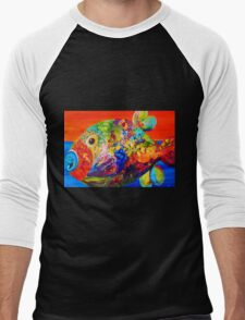 Deviously Dappled Men's Baseball ¾ T-Shirt