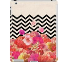 Chevron Flora II iPad Case/Skin