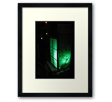 Green Lantern at Waters Edge Framed Print