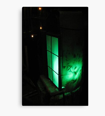 Green Lantern at Waters Edge Canvas Print