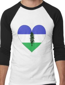 From Cascadia With Love Men's Baseball ¾ T-Shirt