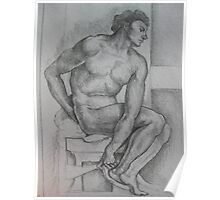 Michelangelo study Poster