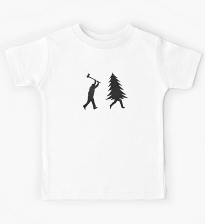 Funny Christmas tree is chased by Lumberjack / Run Forrest, Run! Kids Clothes