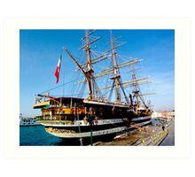 tall ship. venice, italy Art Print