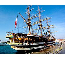 tall ship. venice, italy Photographic Print
