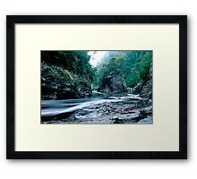 Rock Island Bend, Franklin River, Tasmania Framed Print