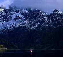 Kayaker, Lofoten Islands, Norway by Andy Townsend
