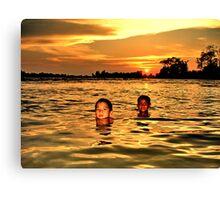 Mekong sunset Canvas Print