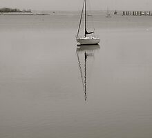 Sail Boat, Great Kills Harbor by J. Cullen
