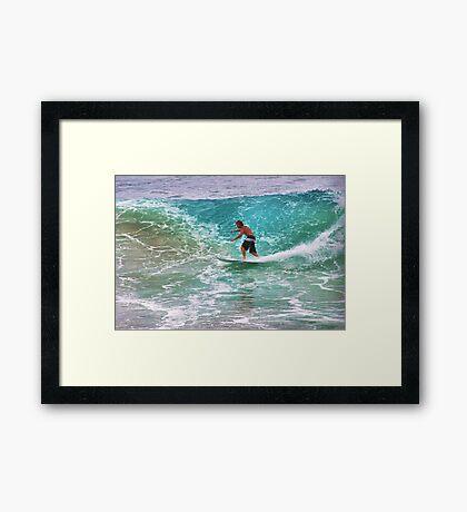 -Tell the teacher were surfin- Framed Print