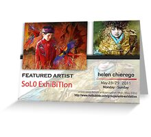 Helen Chierego, Solo Exhibition Banner Greeting Card